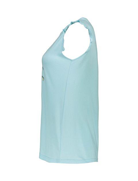 تی شرت و شلوارک نخی زنانه - ناربن - آبي روشن - 4