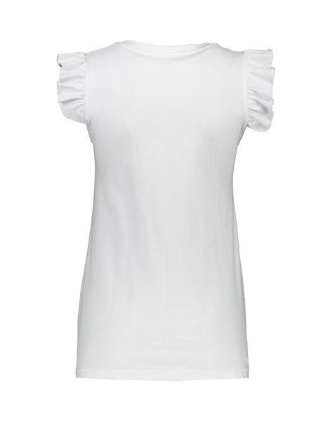 تی شرت و شلوارک نخی زنانه طرح محیا 232 - سفيد - 3
