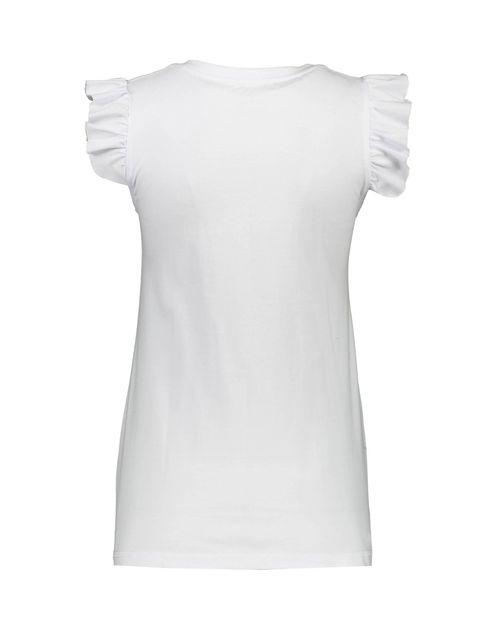 تی شرت و شلوارک نخی زنانه طرح محیا 232 - ناربن - سفيد - 3
