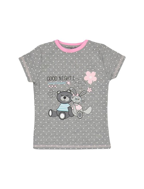 تی شرت و شلوار نخی دخترانه مدل خرس و خرگوش
