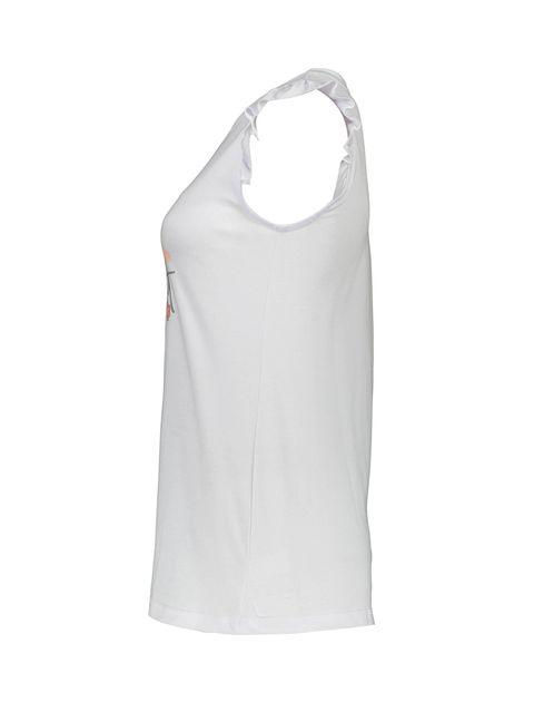 تی شرت و شلوارک نخی زنانه طرح محیا 232 - ناربن - سفيد - 4