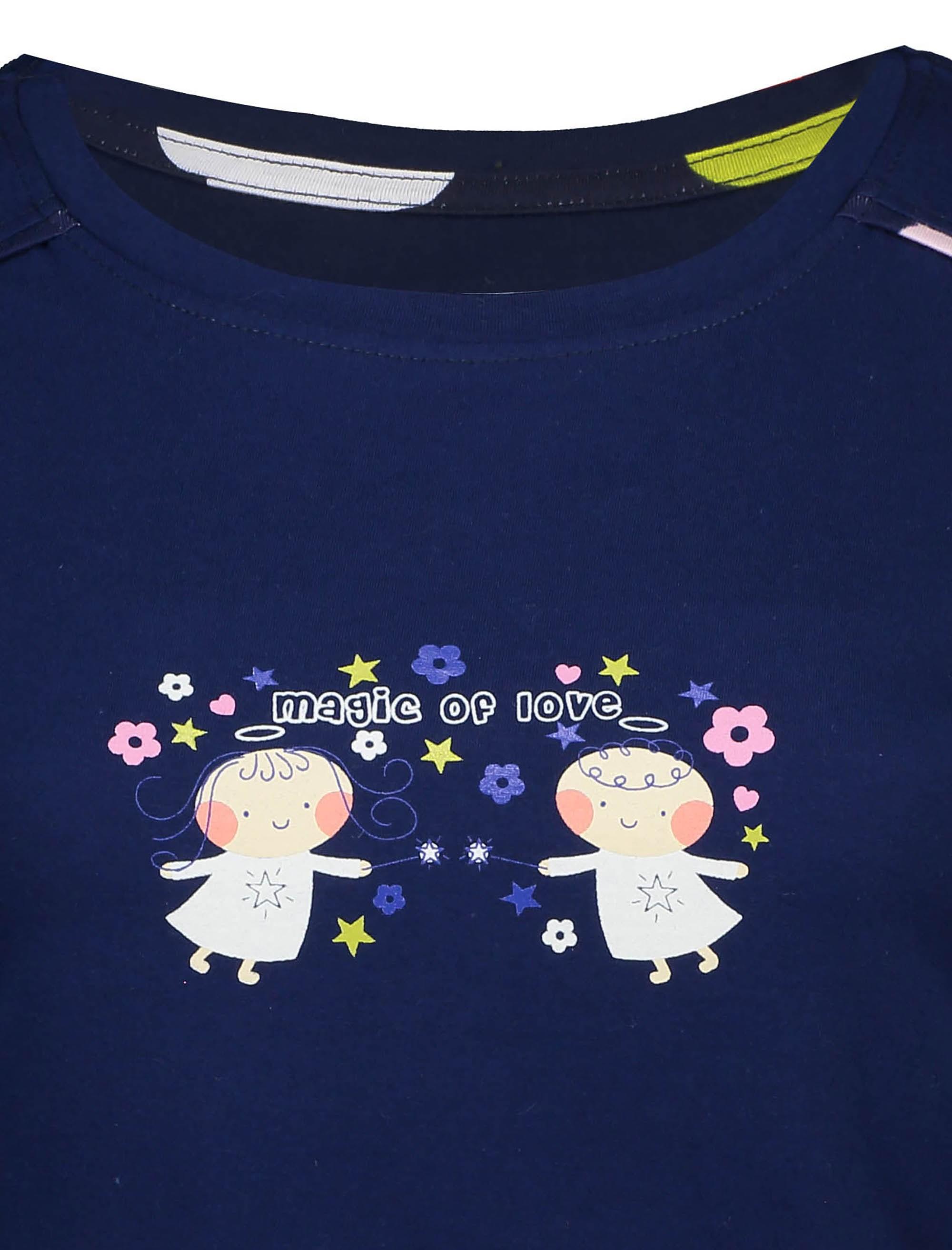 تی شرت و شلوار نخی زنانه - سرمه اي - 5