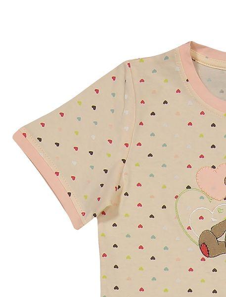 تی شرت و شلوار نخی دخترانه خرس مهربان - گلبهي - 4