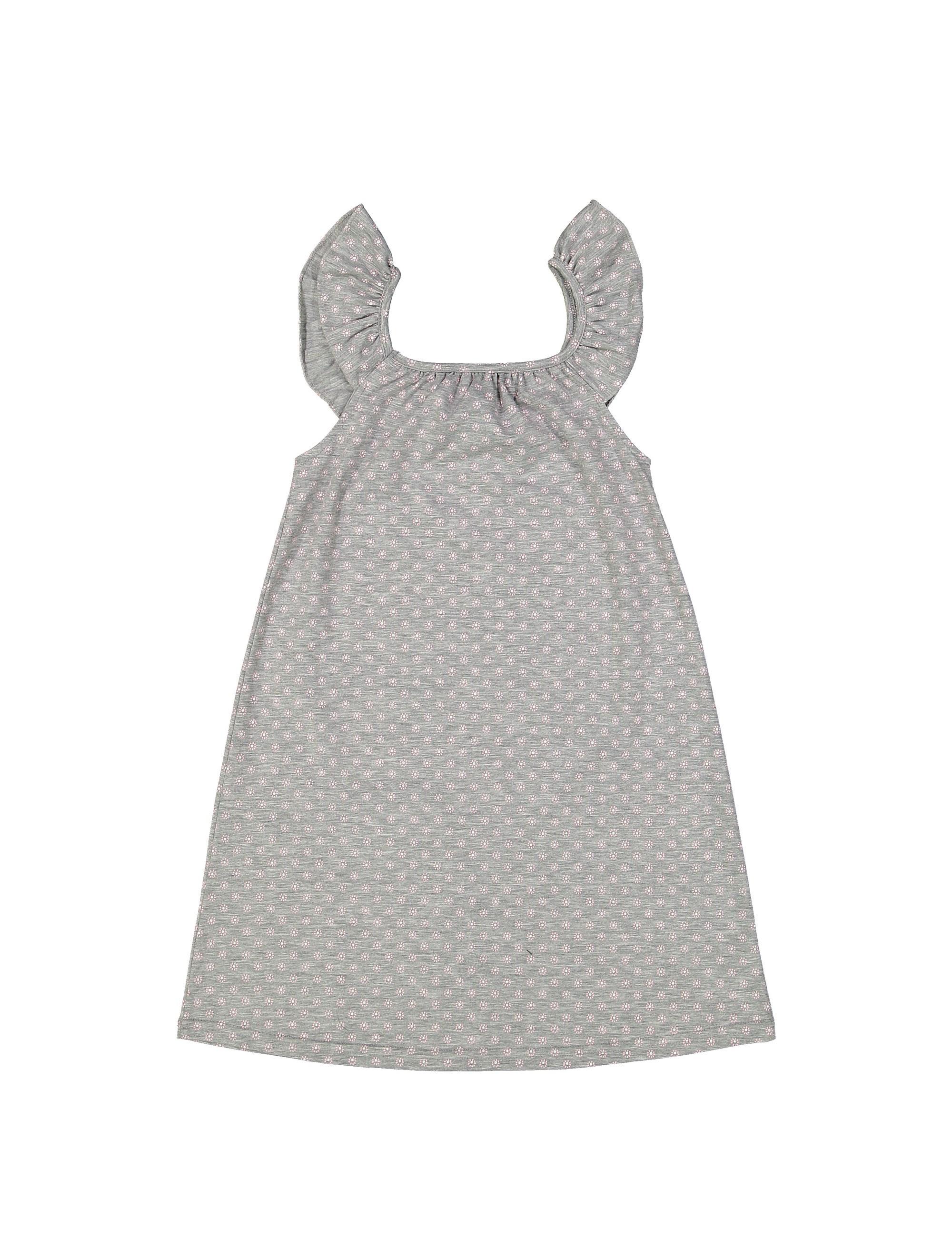 پیراهن نخی روزمره دخترانه مدل پرک - ناربن - طوسي - 2