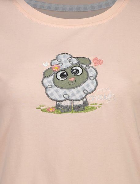تی شرت و شلوار نخی زنانه طرح بره چهار خانه - گلبهي - 5