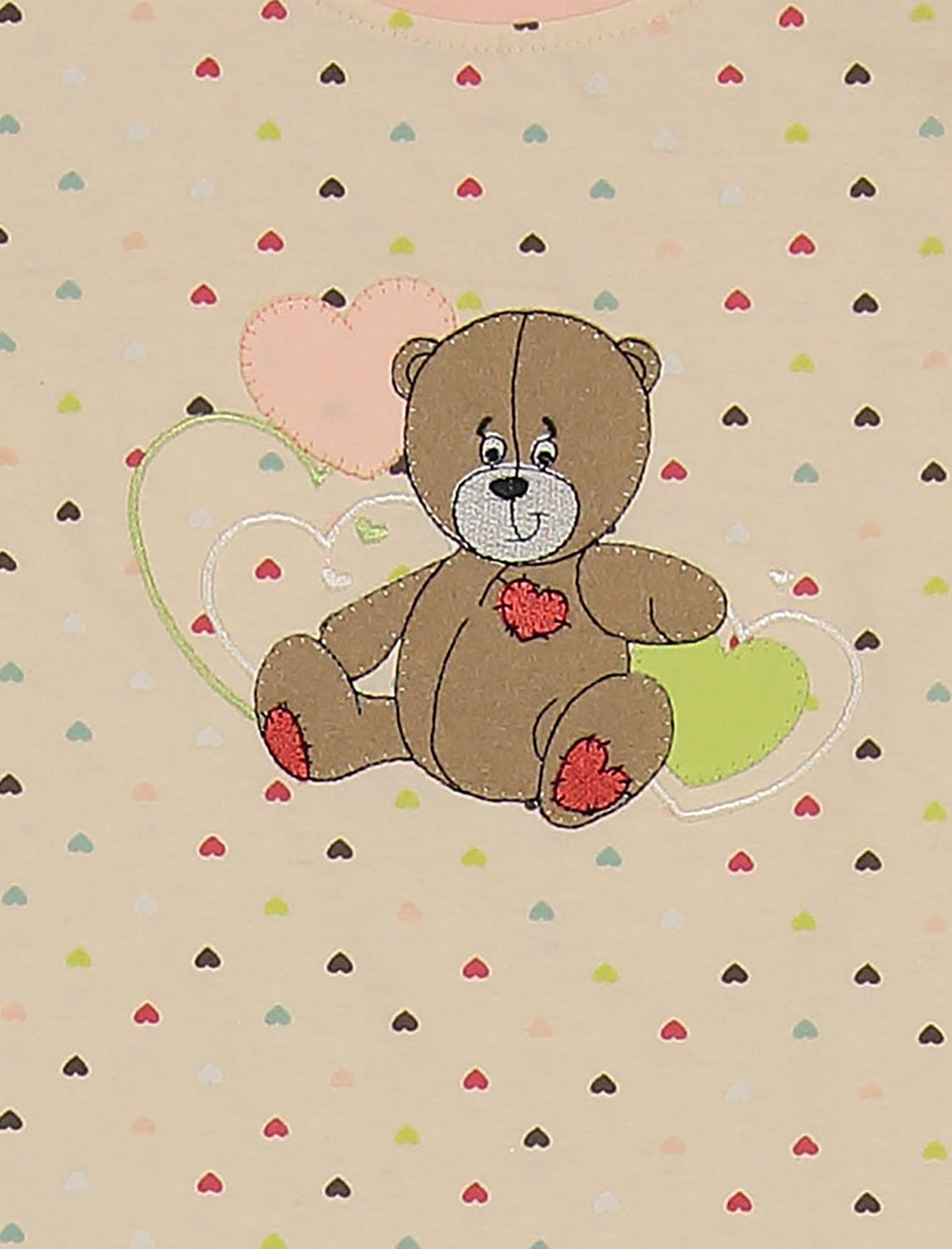 تی شرت و شلوار نخی دخترانه خرس مهربان - ناربن - گلبهي - 5