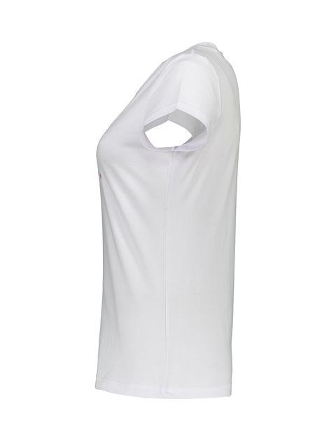 تی شرت و شلوار راحتی نخی زنانه بهنوش - ناربن - سفيد/زغالي - 4