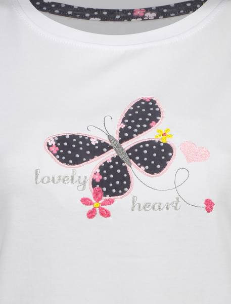 تی شرت و شلوار راحتی نخی زنانه بهنوش - سفيد/زغالي - 5