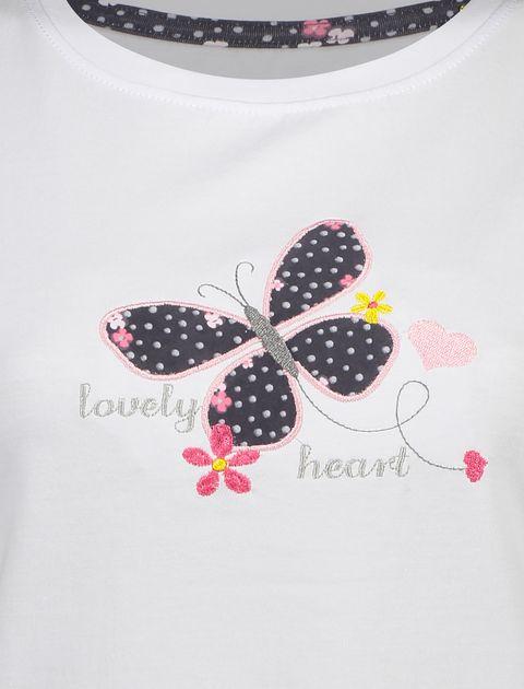 تی شرت و شلوار راحتی نخی زنانه بهنوش - ناربن - سفيد/زغالي - 5