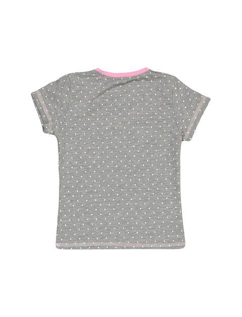 تی شرت و شلوار نخی دخترانه مدل خرس و خرگوش - طوسي - 3