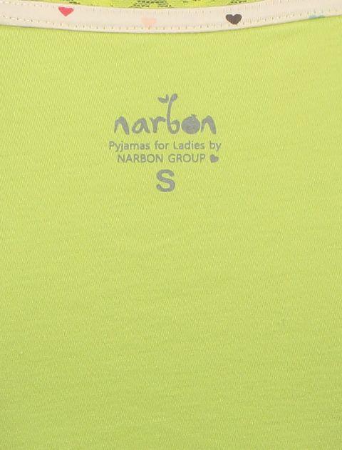 تی شرت و شلوار نخی زنانه خرس مهربان - سبز - 5