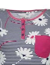 تیشرت و شلوار نخی زنانه مگولیا - بنفش - 4