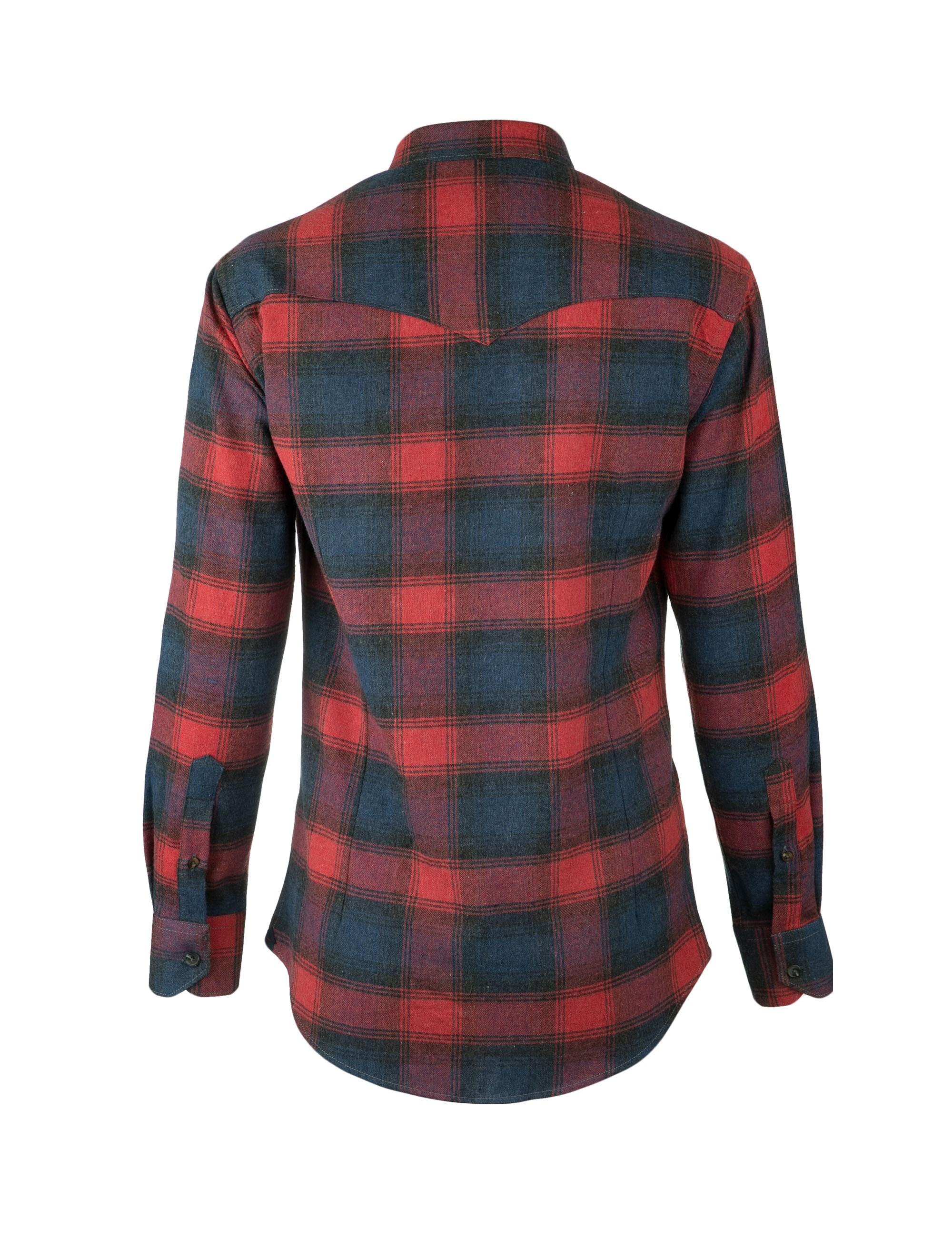 پیراهن نخی آستین بلند مردانه - زی - سرمه اي و طوسي - 3