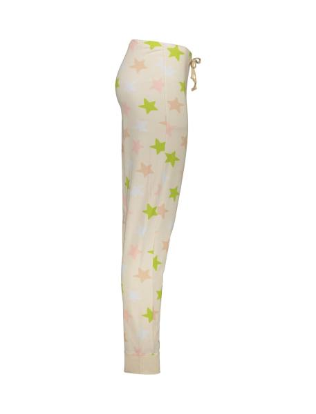 تی شرت و شلوار نخی زنانه طرح خرگوش و ستاره - گلبهي - 7