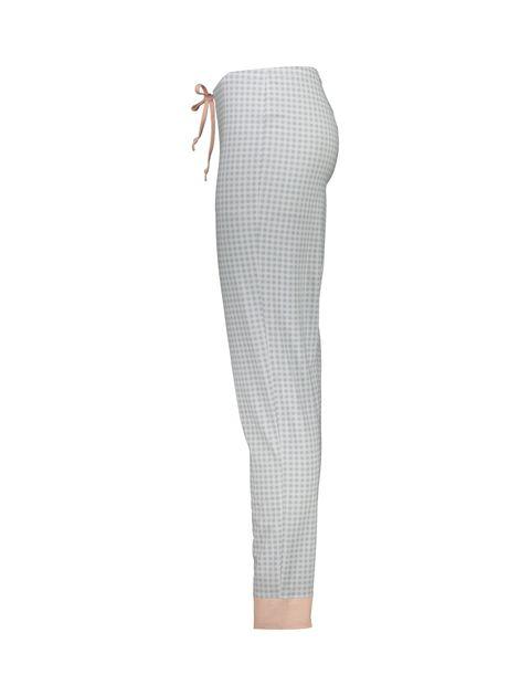 تی شرت و شلوار نخی زنانه طرح بره چهار خانه - ناربن - گلبهي - 9