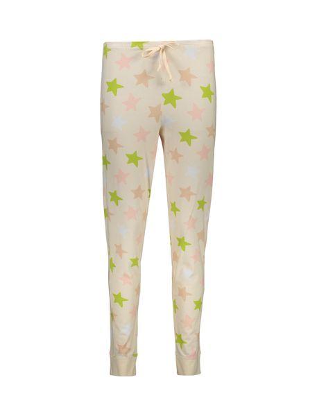 تی شرت و شلوار نخی زنانه طرح خرگوش و ستاره - گلبهي - 8