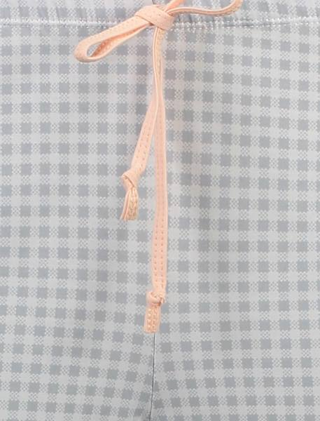 تی شرت و شلوار نخی زنانه طرح بره چهار خانه - گلبهي - 10