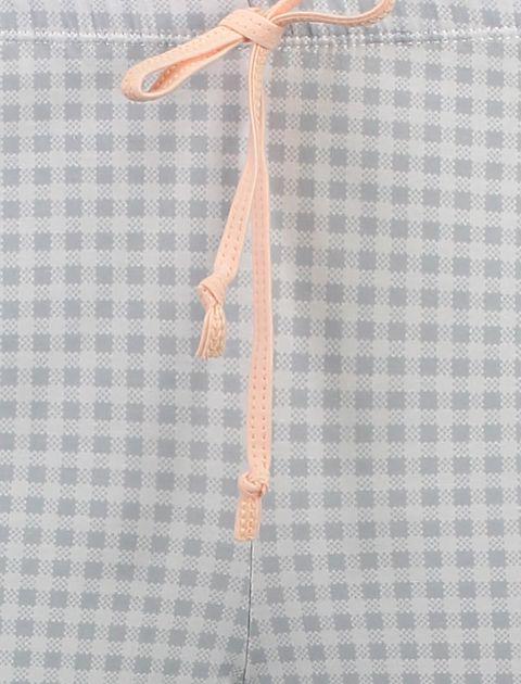 تی شرت و شلوار نخی زنانه طرح بره چهار خانه - ناربن - گلبهي - 10