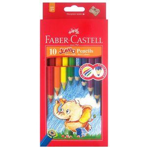 مداد رنگی 10 رنگ فابر کاستل مدل Jumbo