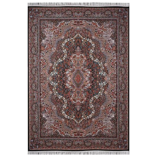 فرش ماشینی فرش هدیه طرح 6015 زمینه سورمه ای