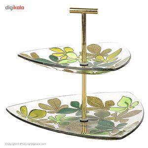 شیرینی خوری دو طبقه گالری انار مدل برگ سبز