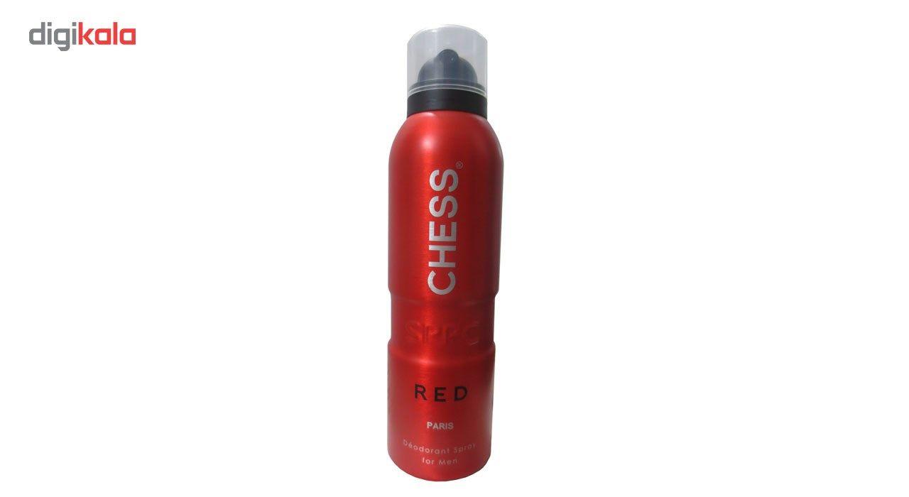 اسپری مردانه اس پی پی سی مدل Chess Red حجم 200 میلی لیتر