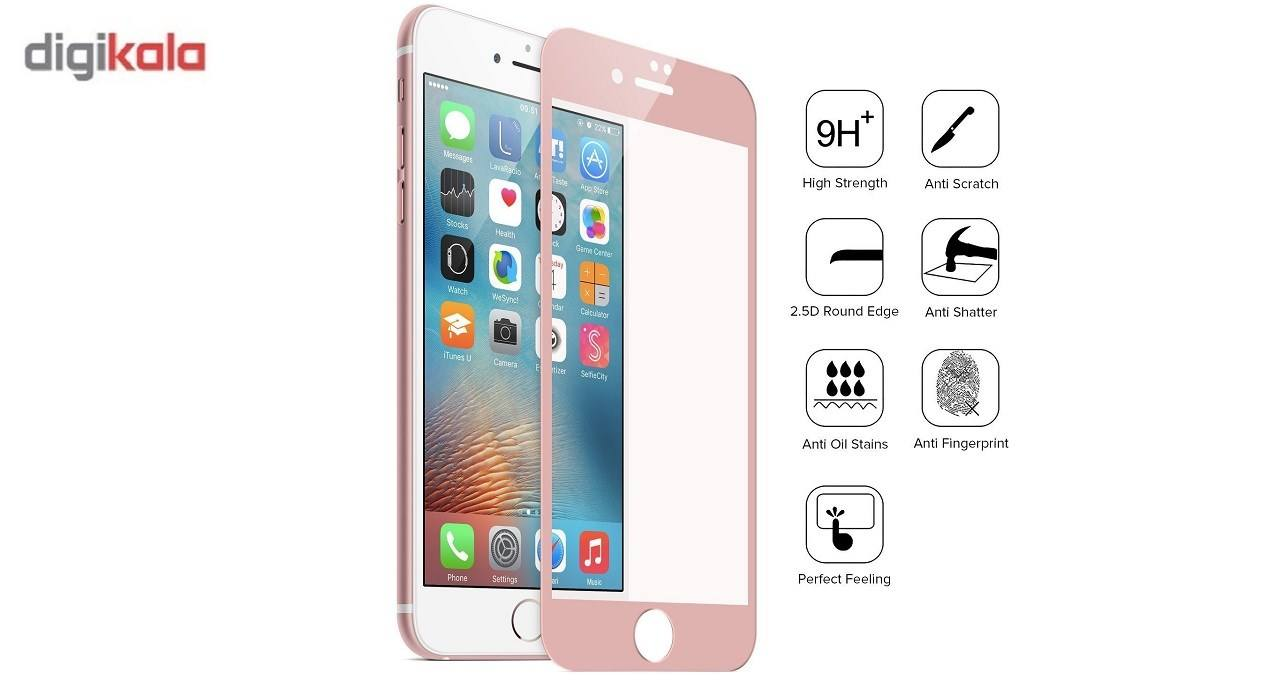 محافظ صفحه نمایش شیشه ای  مدل tempered  مناسب برای گوشی ایفون 6/6s main 1 2