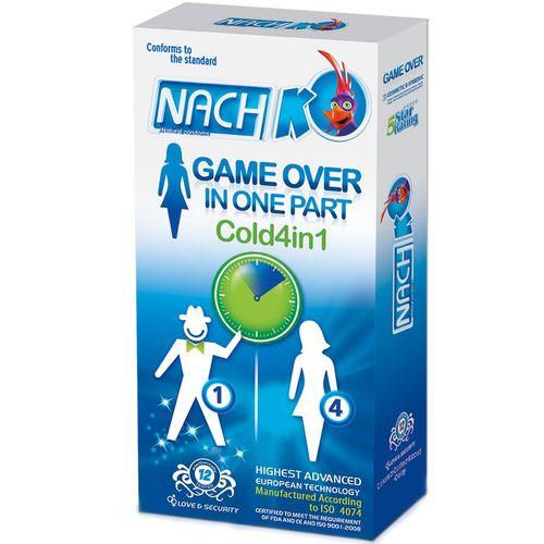 کاندوم تحریک کننده بانوان سرد کدکس مدل Game Over In One Part Cold 4in1  بسته 12 عددی