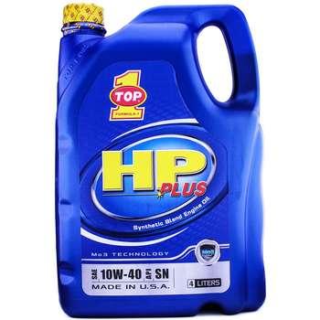 روغن موتور خودرو تاپ وان مدل HP Plus 10W-40 حجم 4 لیتر