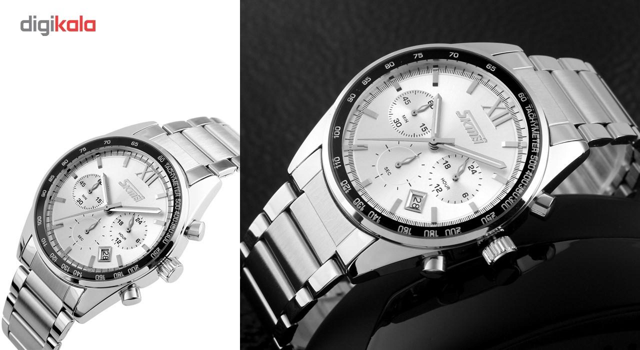 خرید ساعت مچی عقربه ای مردانه اسکمی مدل 9096  کد 03 | ساعت مچی