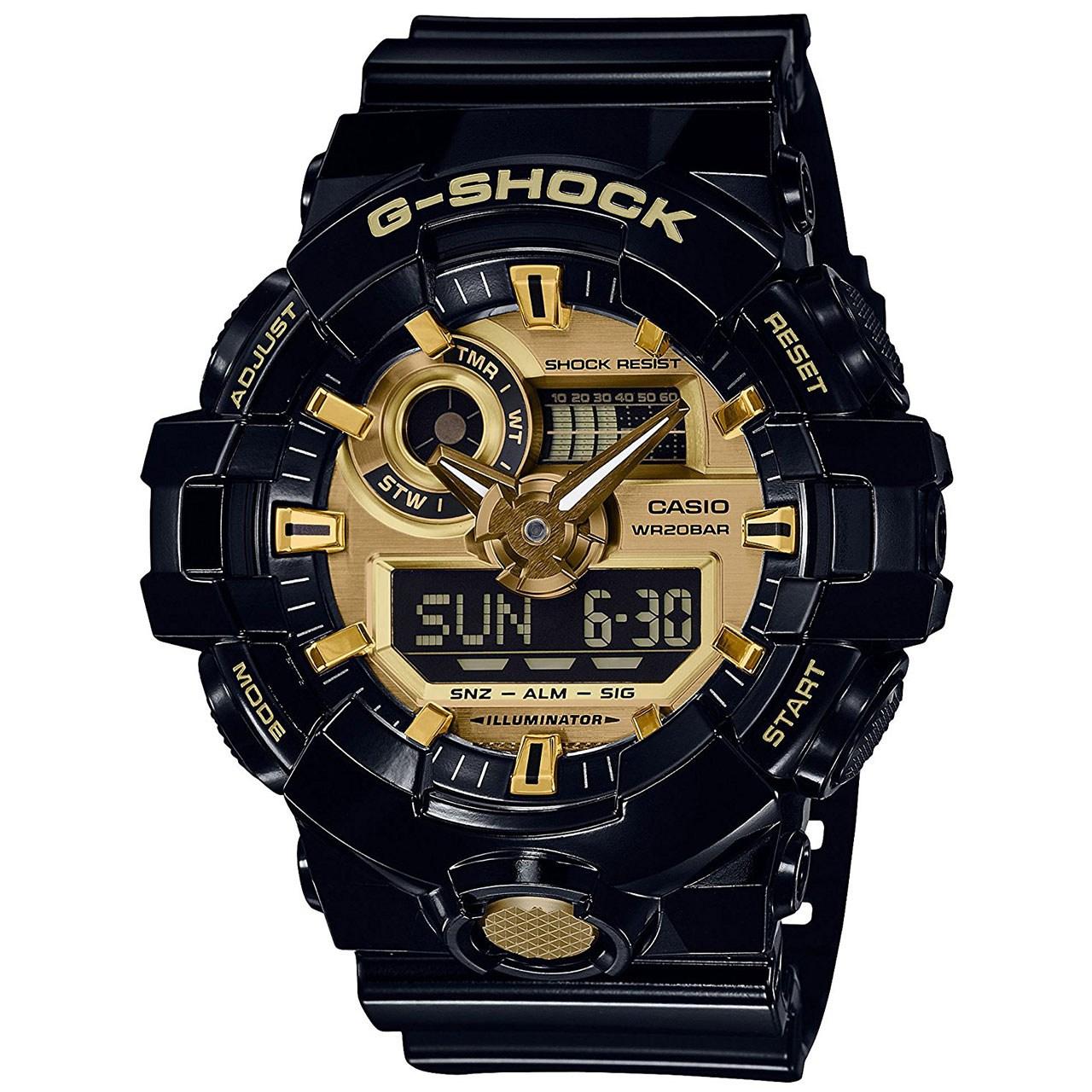 ساعت مچی عقربه ای مردانه کاسیو جی شاک مدل GA-710GB-1ADR 6