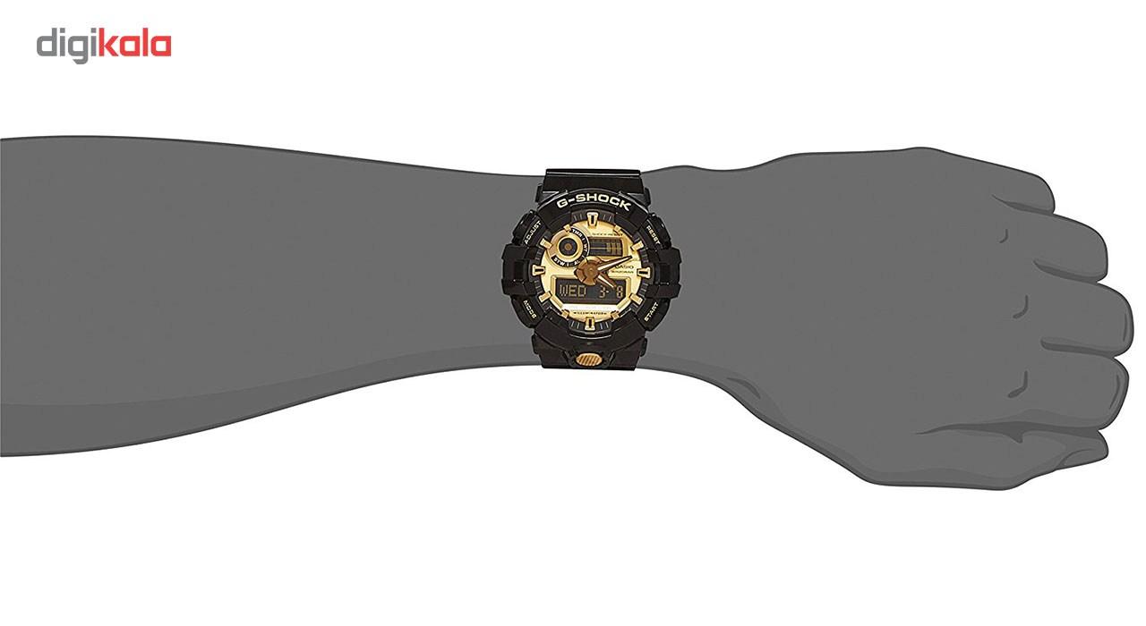 ساعت مچی عقربه ای مردانه کاسیو جی شاک مدل GA-710GB-1ADR