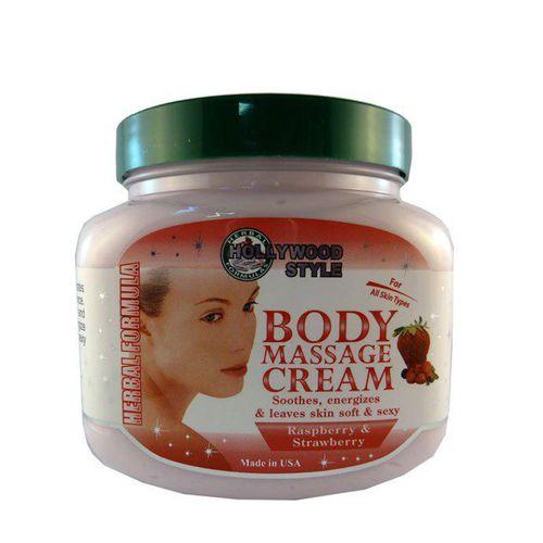 کرم ماساژ بدن هالیوود استایل مدل body massage cream حجم 310 گرم