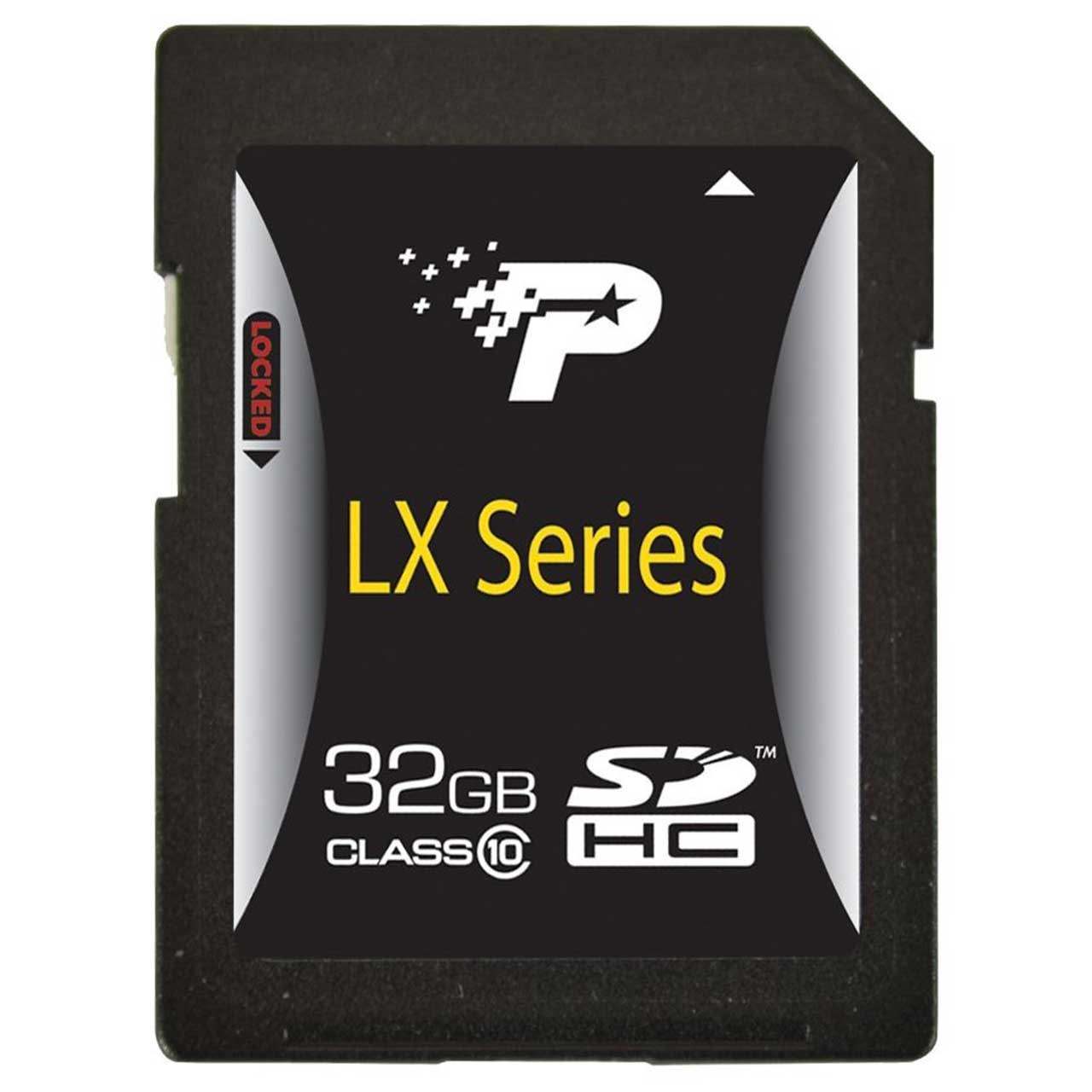 کارت حافظه SDHC پتریوت مدلLX Series  کلاس 10  ظرفیت 32 گیگابایت