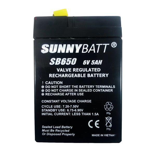 باتری 6 ولت 5 آمپر سانی بت مدل SB650