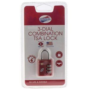 قفل رمزی آمریکن توریستر مدل TSA 3 Dial Combination