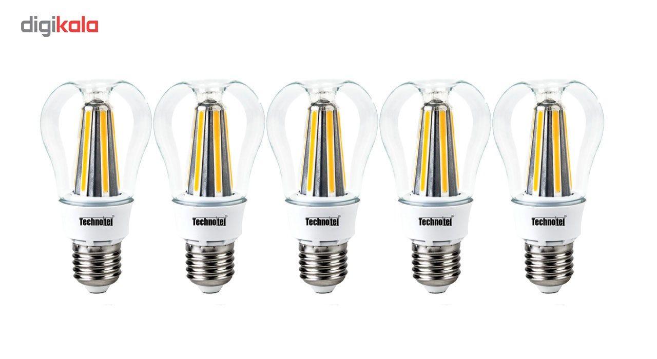 لامپ ال ای دی فیلامنتی 8 وات تکنوتل مدل 308 پایه E27 بسته 5 عددی main 1 1