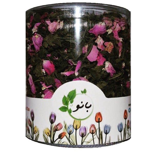 پک دمنوش بانو مدل چای سبز و گل سرخ