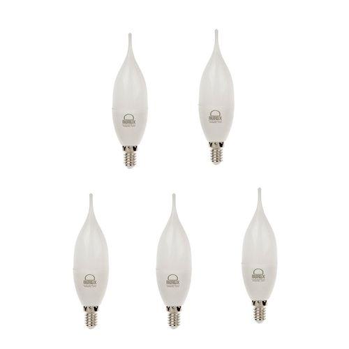 لامپ ال ای دی 7 وات اشکی بروکس پایه E14 بسته 5 عددی