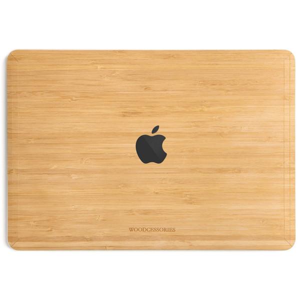 کاور چوبی وودسسوریز مدل Apple Logo مناسب برای مک بوک پرو تاچ بار 15 اینچی 2016، 2017، 2018