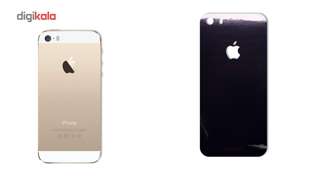 برچسب پوششی ماهوت مدل Black-color-shades Special مناسب برای گوشی  iPhone 5S-SE main 1 2