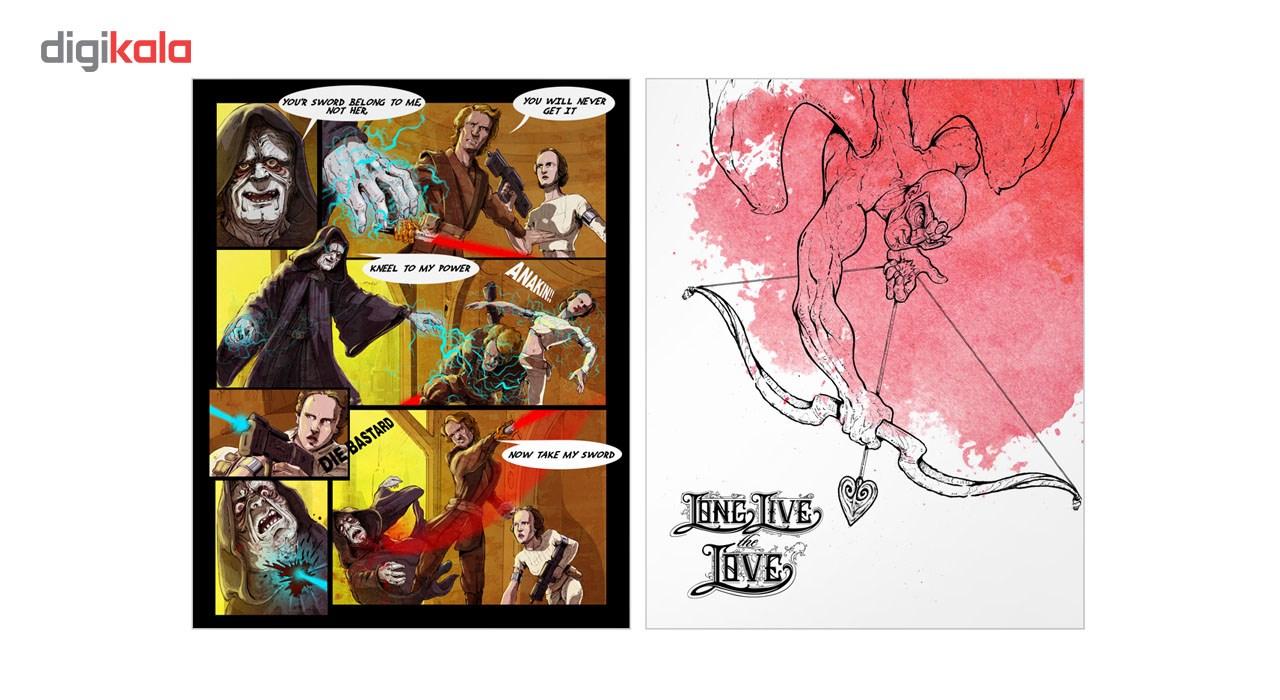 کارت پستال آرتپستال طرح جنگ ستارگان