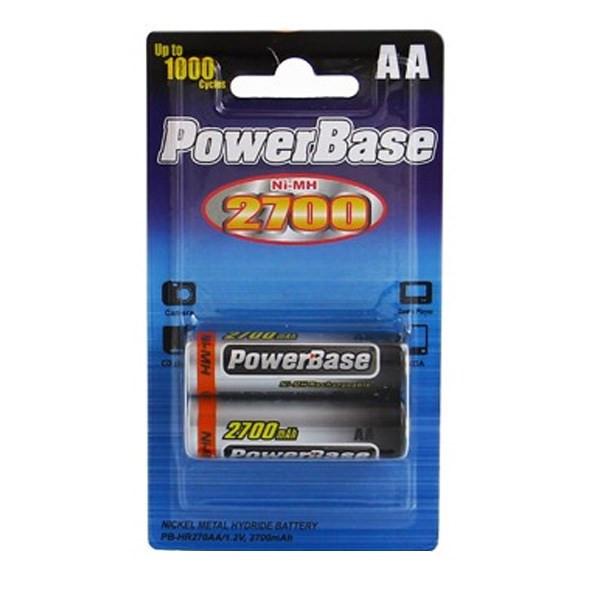 باتری قلمی قابل شارژ پاوربیس مدل PB-HR270AA بسته 2 عددی