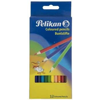 مداد رنگی 12 رنگ پلیکان