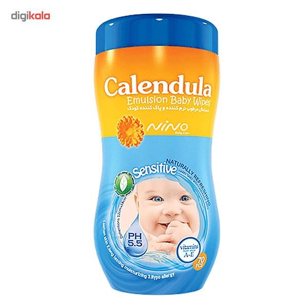 دستمال مرطوب کودک نینو مدل Calendula - بسته 70 عددی