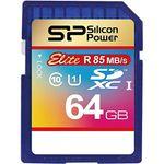 کارت حافظه SDXC سیلیکون پاور مدل Elite کلاس 10 استاندارد UHS-I U1 سرعت 85MBps ظرفیت 64 گیگابایت
