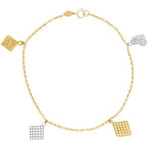 دستبند طلا 18 عیار ماهک مدل MB0209