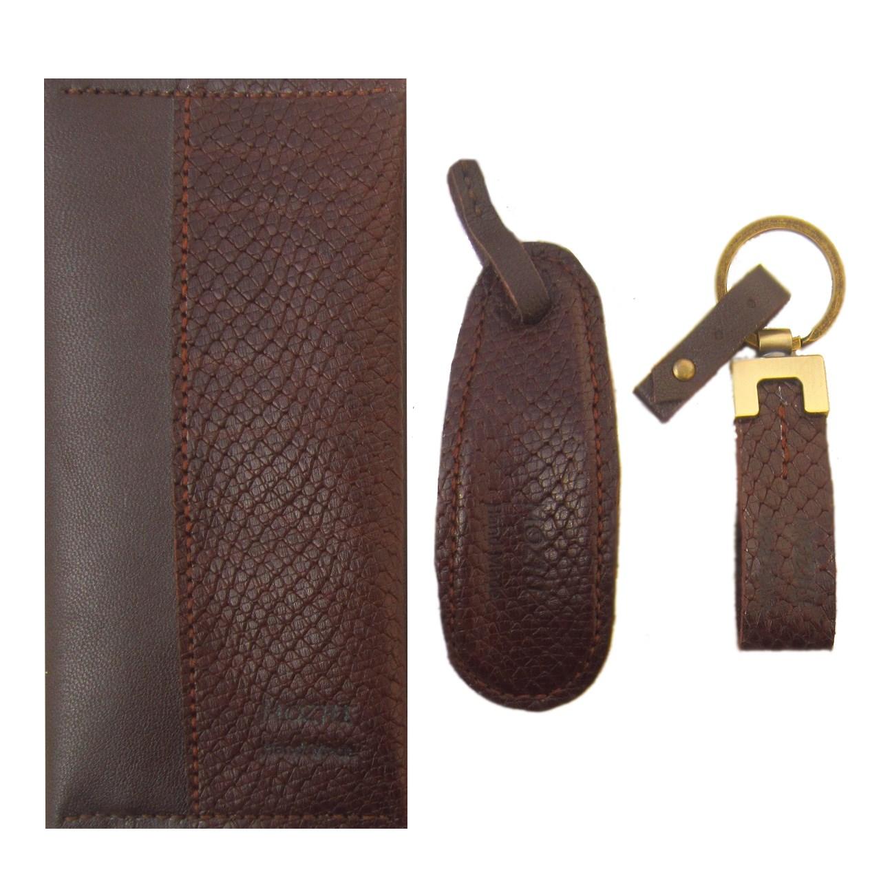 قیمت ست هدیه  چرم طبیعی دستدوز مژی مدل K2-51