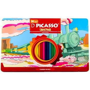 مداد رنگی 36 رنگ پیکاسو مدل Superb Writer طرح لوکوموتیو