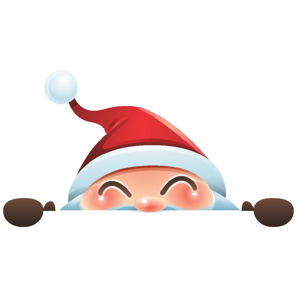 استیکر فراگراف کودک FG طرح بابانوئل کد 001